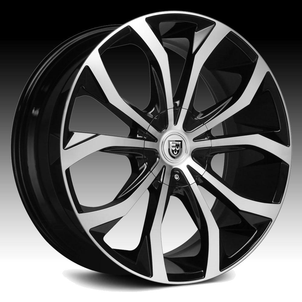 Lexani Lust Gloss Black Machined Custom Wheels Rims