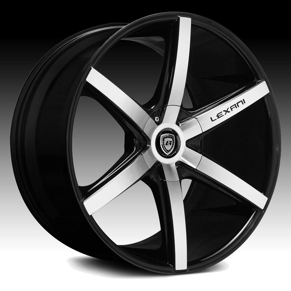 lexani r six machined black custom wheels rims   lexani