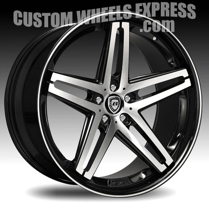 Lexani R-Five / R5 Gloss Black Machined Custom Wheels Rims ...