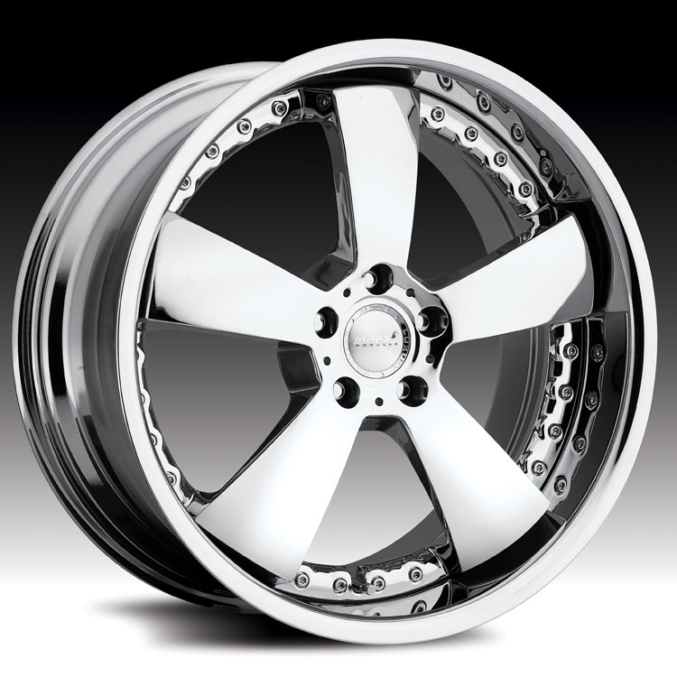 Maas 550C 550 San Remo Chrome 2 piece Custom Rims Wheels - 550C