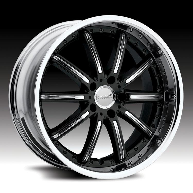 Maas 551C 551 Monaco 2 piece Chrome and Black Custom Rims Wheels