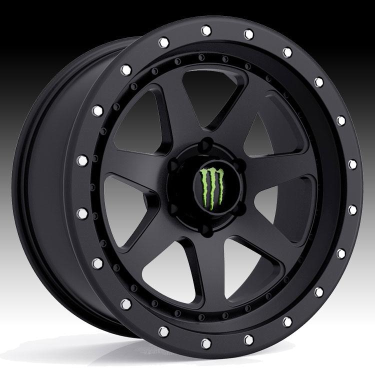 Jeep Wrangler With Black Rims >> Monster Energy Edition 540B Satin Black Custom Wheels Rims - Monster Energy Edition Wheels ...