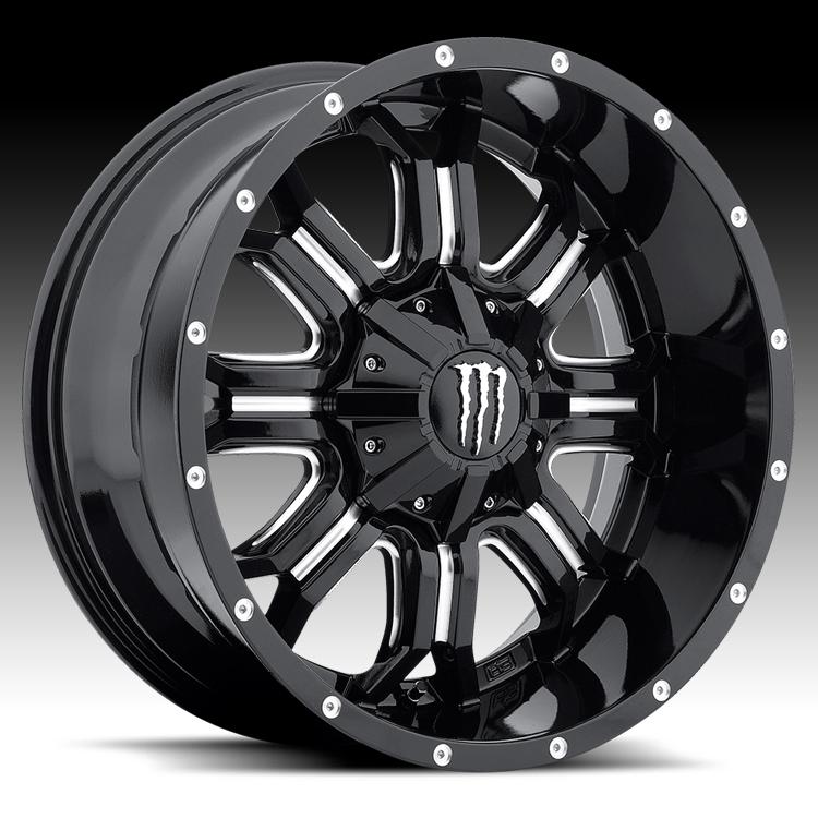 TIS Monster Energy Edition Style 535BM Black Milled Custom ...