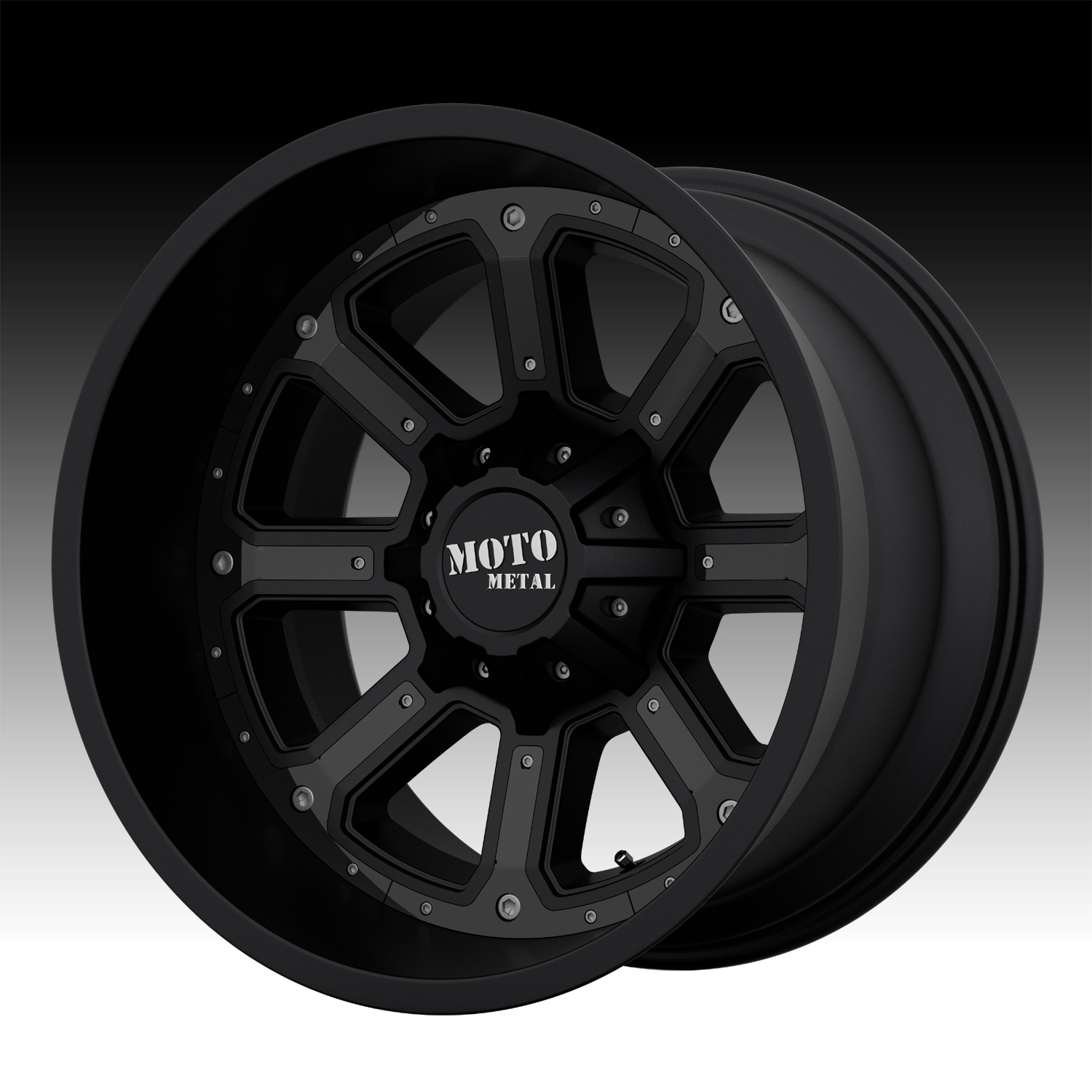 Moto Metal Mo984 Matte Black Custom Wheels Rims Moto Metal Custom