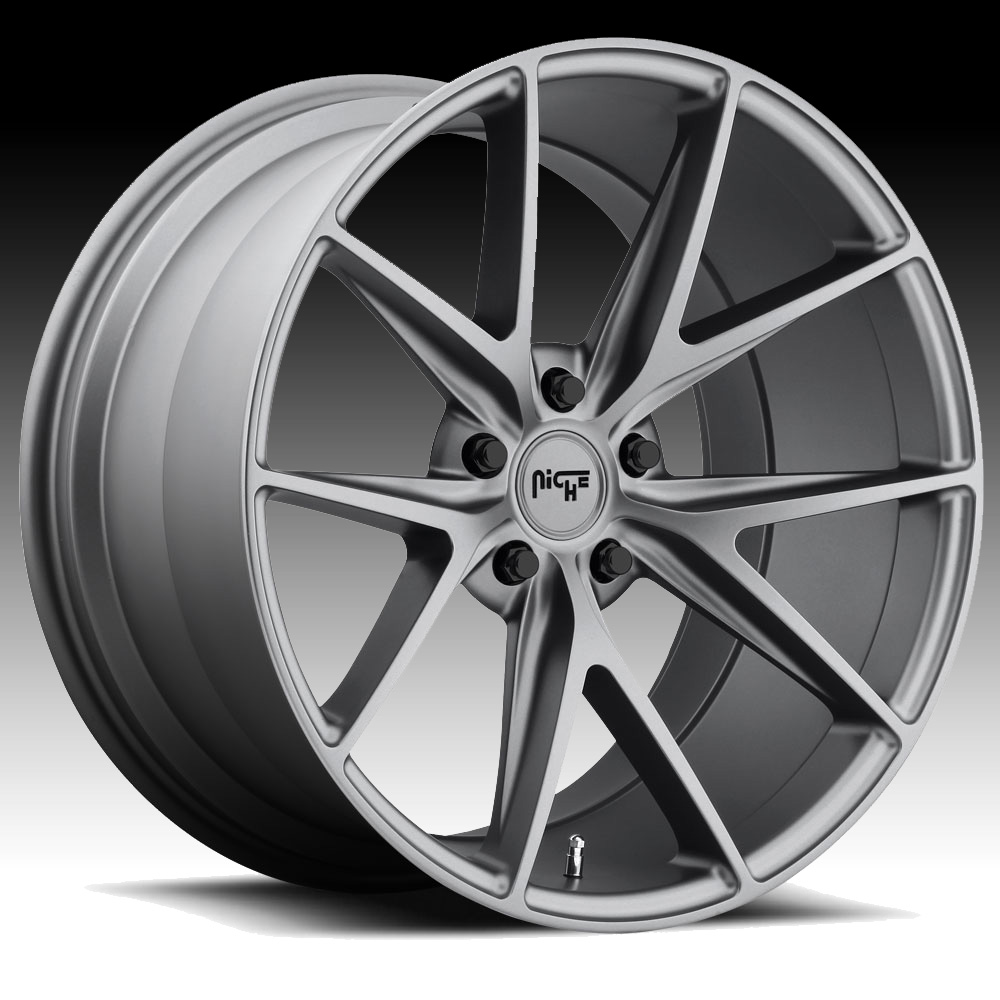 Niche Road Wheels >> Niche M116 Misano Anthracite Custom Wheels Rims M116