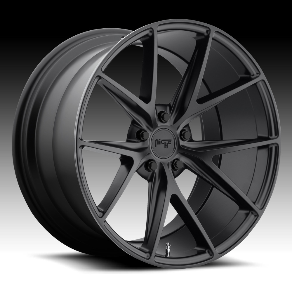 Niche Road Wheels >> Niche M117 Misano Satin Black Custom Wheels Rims M117 Misano