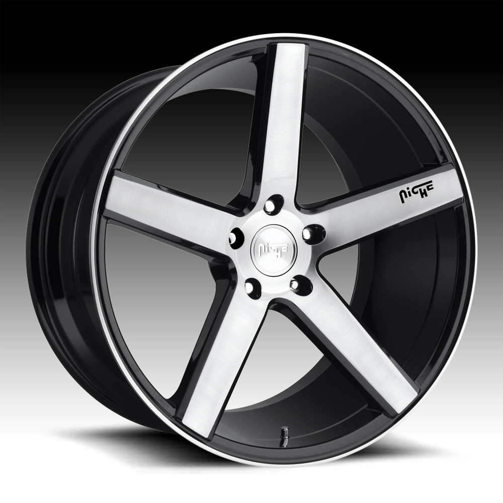 Niche Road Wheels >> Niche Milan M124 Brushed Black Custom Wheels Rims M124