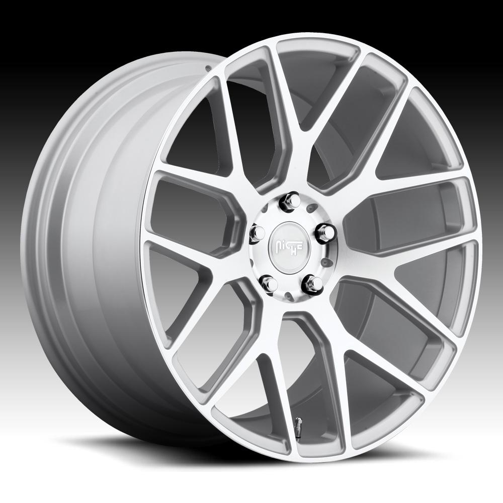 Niche M160 Intake Machined Silver Custom Wheels Rims