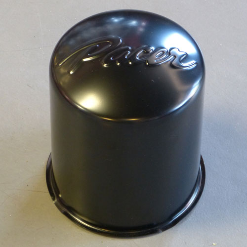 "111HM-BK / Pacer Black Push-Thru Center Cap / 5.11"" Diameter 1"