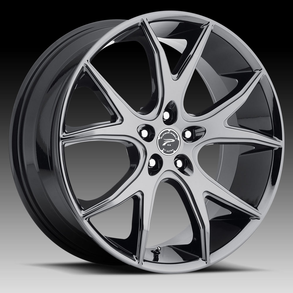 Pratnumz Platinum: Platinum 419 Recluse Black Chrome PVD Custom Wheels Rims
