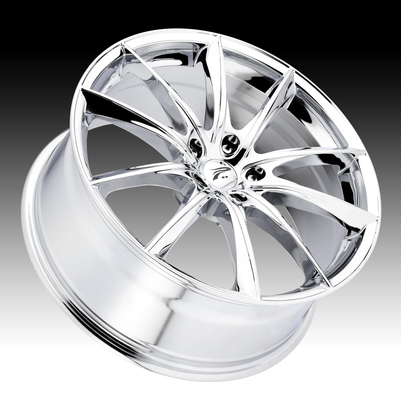 Pratnumz Platinum: Platinum 435 Flux Chrome Custom Wheels Rims