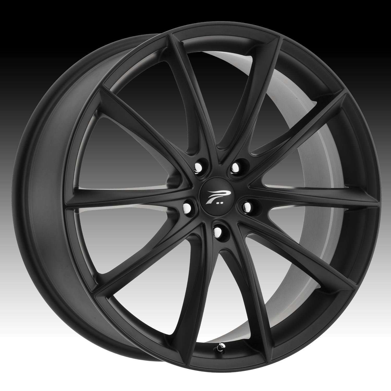 Pratnumz Platinum: Platinum 435 Flux Satin Black Custom Wheels Rims