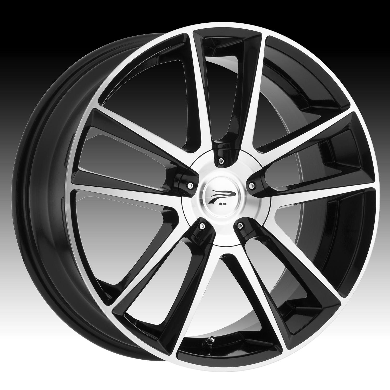 Pratnumz Platinum: Platinum 436 Gemini Machined Black Custom Wheels Rims