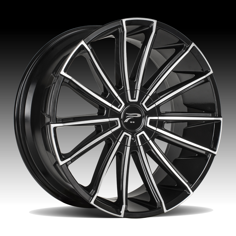 Black Metal Platinum: Platinum 439U Turbine Machined Black Custom Wheels Rims