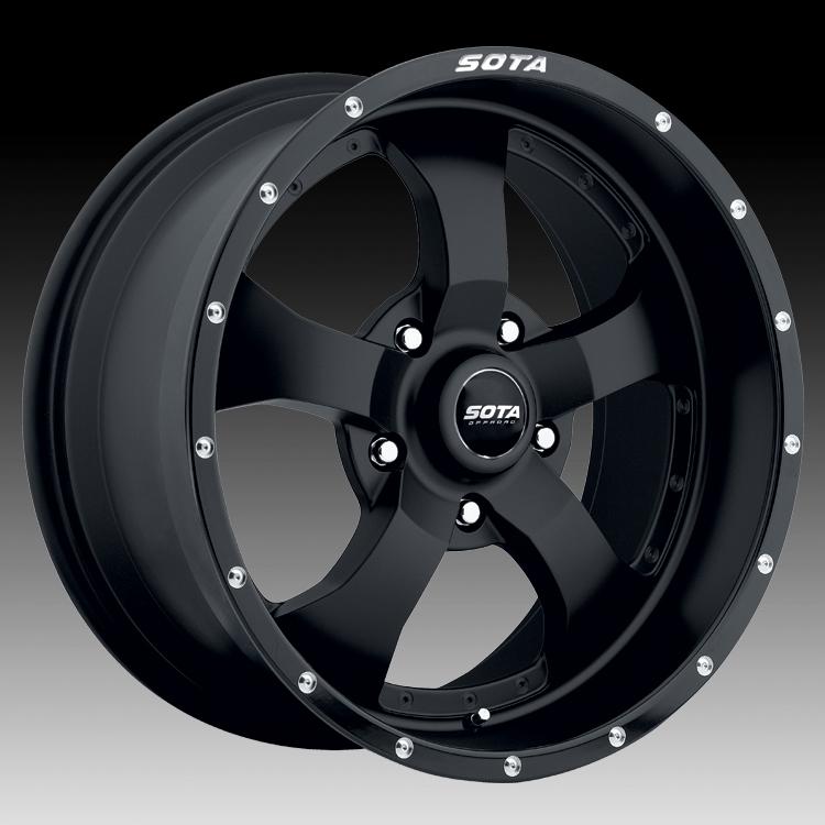 SOTA Offroad Novakane Stealth Black Custom Truck Wheels