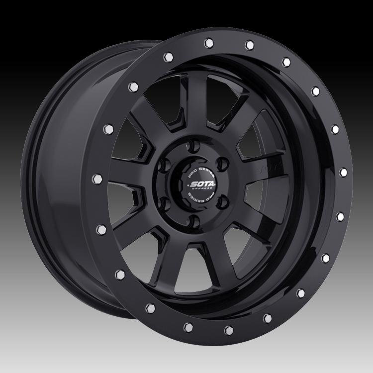 Truck Wheels Rims : Sota offroad pro series s d stealth black custom truck