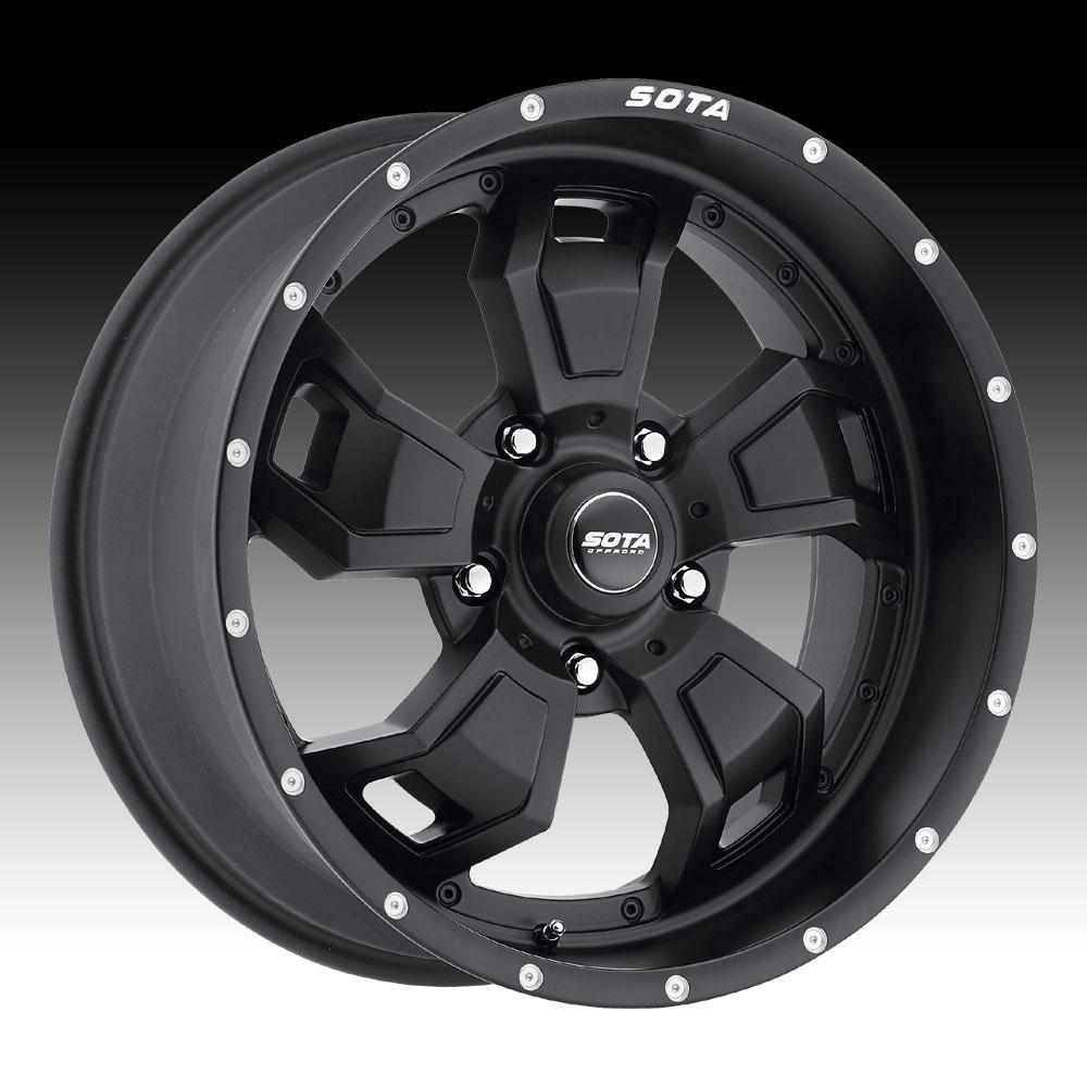 Truck Wheels Rims : Sota offroad s c a r stealth black custom truck wheels