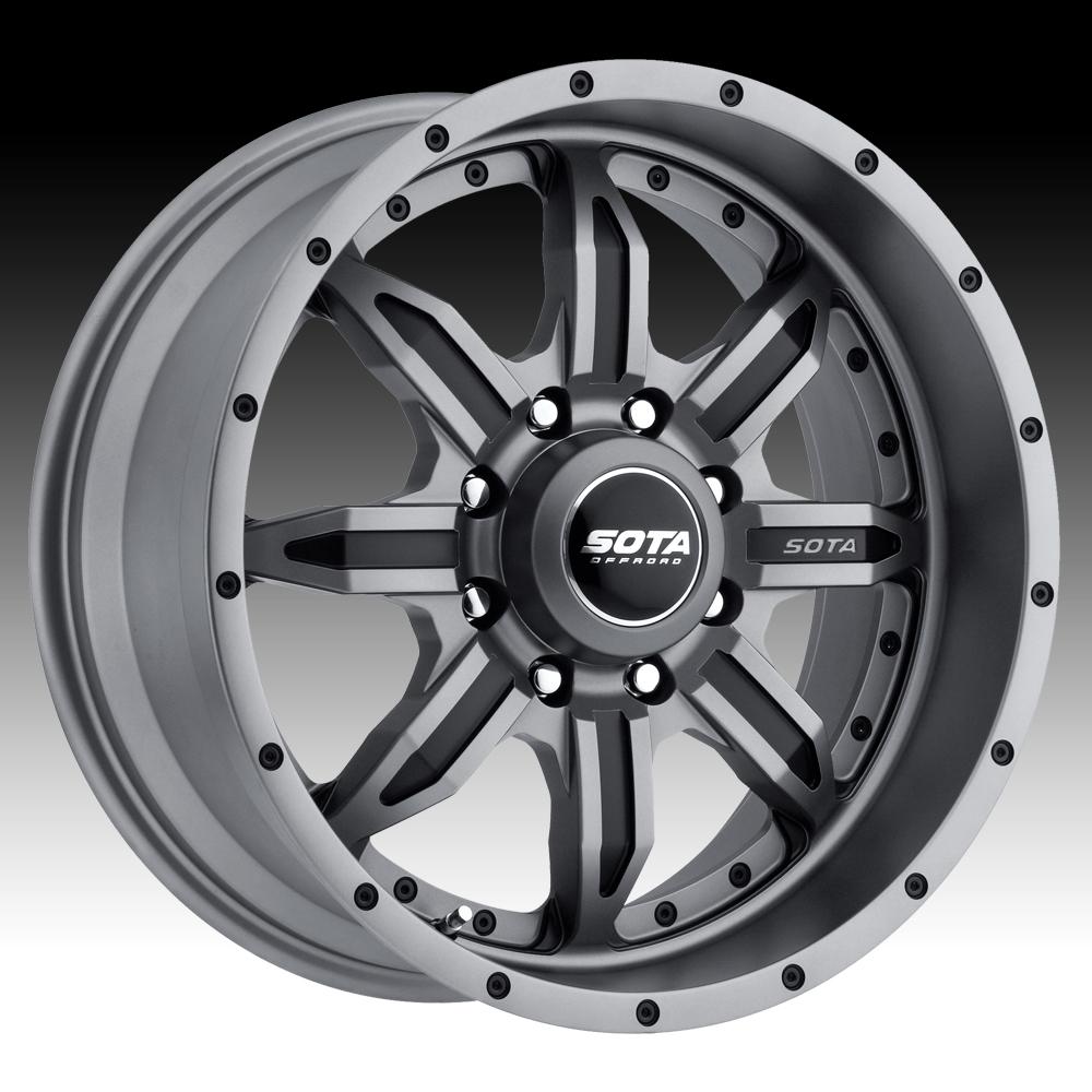 SOTA Offroad SPYK Anthra-Kote Custom Truck Wheels Rims