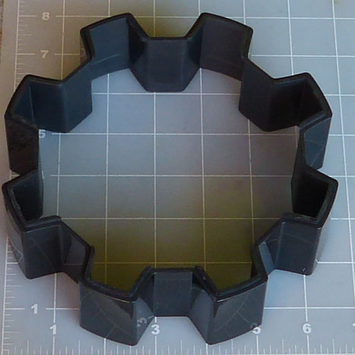 Worx Alloy 8-Lug Gloss Black Center Cap WRX-8808LB
