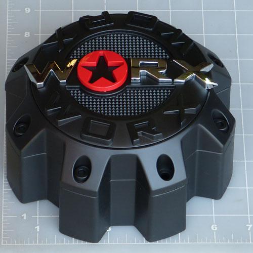 Wrx 8808lsb Worx Alloy 8 Lug Satin Black Center Cap