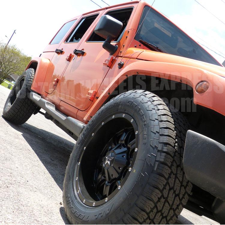 """18"""" TIS 535B W/ 285/65R18 Nitto Terra Grappler Tires"""