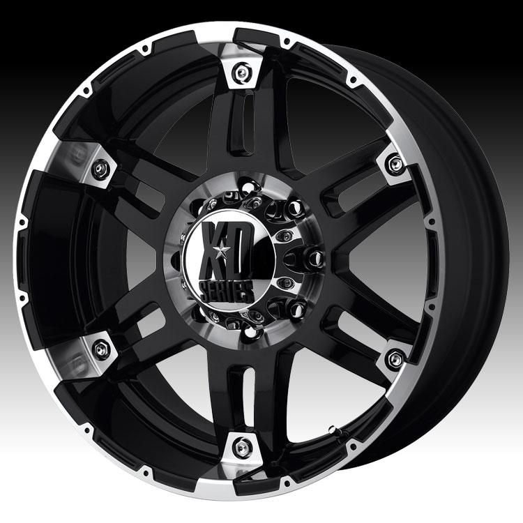 Kmc Xd Series Xd797 Spy Gloss Black Machined Custom Wheels Rims Xd