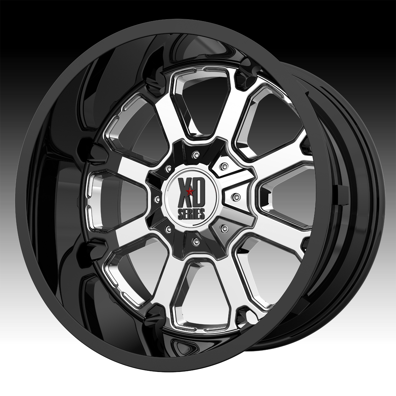 Black Wheels For Jeeps ... Black Chrome Custom Wheels Rims - XD Series by KMC Wheels Rims
