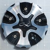 CAP-818MB / Chrome Xpressions 818MB Chaos Machined Black Bolt On Center Cap 2
