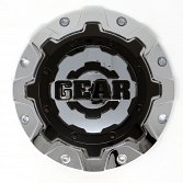 CAP-6C-CB17 / Gear Alloy Chrome With Gloss Black Overlay Bolt-On 2