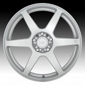 Motegi Racing MR143 CS6 Hyper Silver Custom Wheels Rims 4