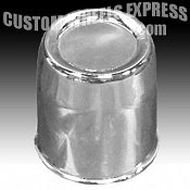 "108 / Chrome Push-Thru 3.42"" Diameter Center Cap"