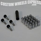 Spline Chrome Car 5-Lug Install Kit