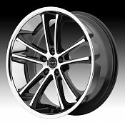 Asanti Black Label ABL-1 Machined Black Chrome Lip Custom Wheels