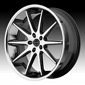 Asanti Black Label ABL-4 Machined Black Chrome Lip Custom Wheels