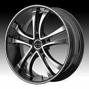 Asanti Black Label ABL-6 Machined Black Custom Wheels Rims