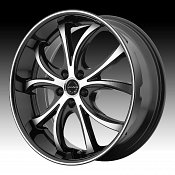 Asanti Black Label ABL-8 Machined Black Custom Wheels Rims