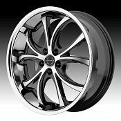 Asanti Black Label ABL-8 Machined Black Chrome Lip Custom Wheels