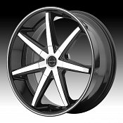 Asanti Black Label ABL-9 Machined Black Custom Wheels Rims