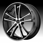 Asanti Black Label ABL-1 Machined Black Custom Wheels Rims