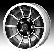 American Racing VN47 Vector Machined Anthracite Custom Wheels Ri