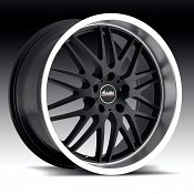 Advanti Racing A4 Kudos Matte Black w/ Machined Lip Custom Wheel