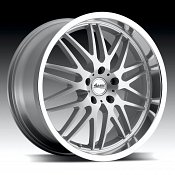 Advanti Racing A4 Kudos Silver w/ Machined Lip Custom Wheels Rim