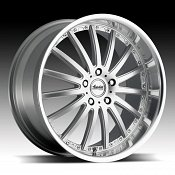 Advanti Racing A8 Afoso Silver w/ Machined Face and Lip Custom R