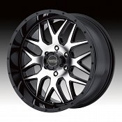 American Racing AR910 Machined Black Custom Wheels Rims