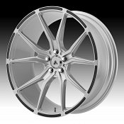 Asanti Black Label ABL-13 Brushed Silver Custom Wheels Rims