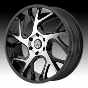 Asanti Black Label ABL-16 Machined Black Custom Wheels Rims