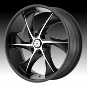 Asanti Black Label ABL-17 Machined Black Custom Wheels Rims