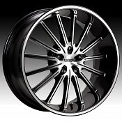 Cruiser Alloy 910MB 910 Attack Machined w/ Black Custom Rims Whe