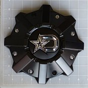 CAP-645B-DSTAR / DropStars Satin Black Bolt-On Center Cap
