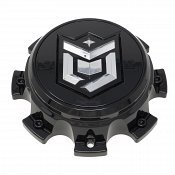CAP-655BM-8-DB / DropStars Gloss Black Bolt-On Center Cap